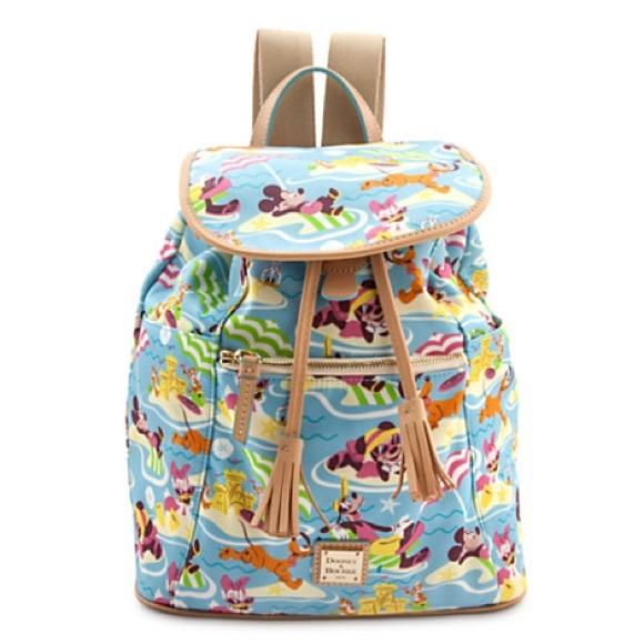 "7b941e4c09 Dooney   Bourke Handbags -  Dooney   Burke  Disney Nylon ""Beach"" Backpack"